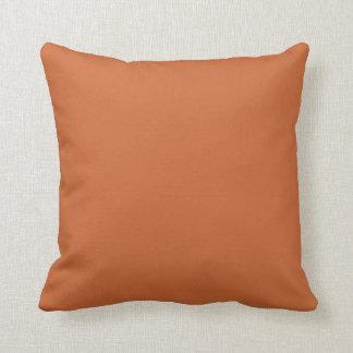 Plain Burnt Orange> Throw Pillow Cushions