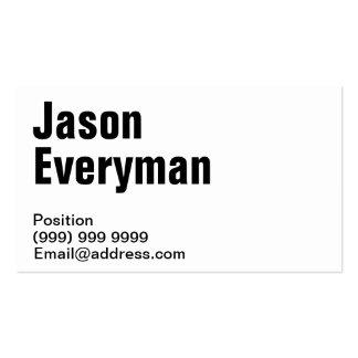 Plain Business Cards Very Minimal
