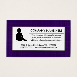 plain childcare business card