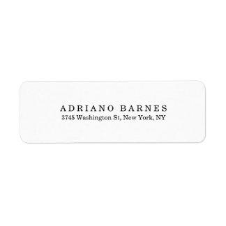 Plain Classical Minimalist Professional Elegant Return Address Label
