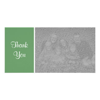 Plain Color II - Thank You - Army Green Picture Card