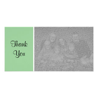 Plain Color II - Thank You - Faded Green Photo Card