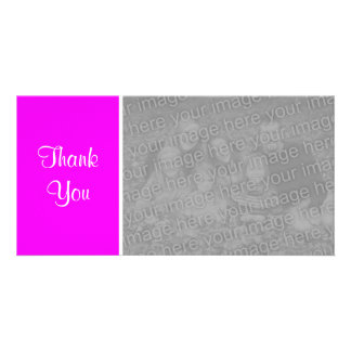 Plain Color II - Thank You - Magenta Photo Card
