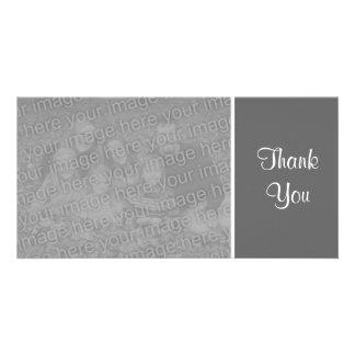 Plain Color - Thank You - Dark Gray Photo Cards