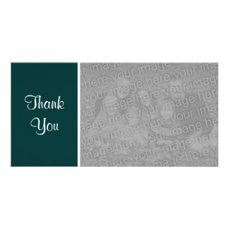 Plain Color - Thank You - Dark Green Photo Card Template