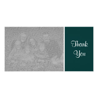 Plain Color - Thank You - Dark Green Photo Cards