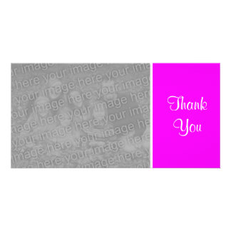 Plain Color - Thank You - Magenta Picture Card