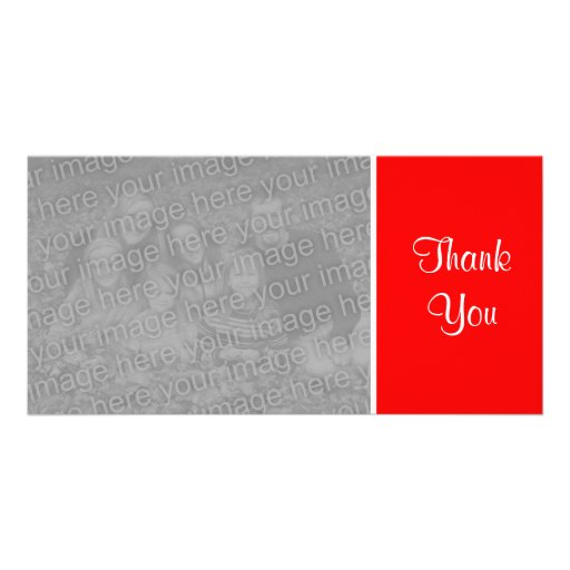 Plain Color - Thank You - Red Photo Cards