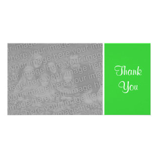 Plain Color - Thank You - Spring Green Custom Photo Card