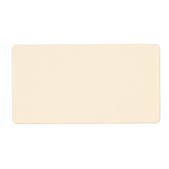 Plain cream or ivory background blank custom label