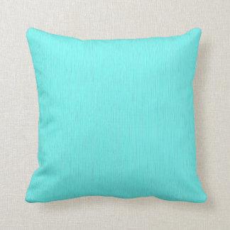 Plain cyan (aqua) background cushion