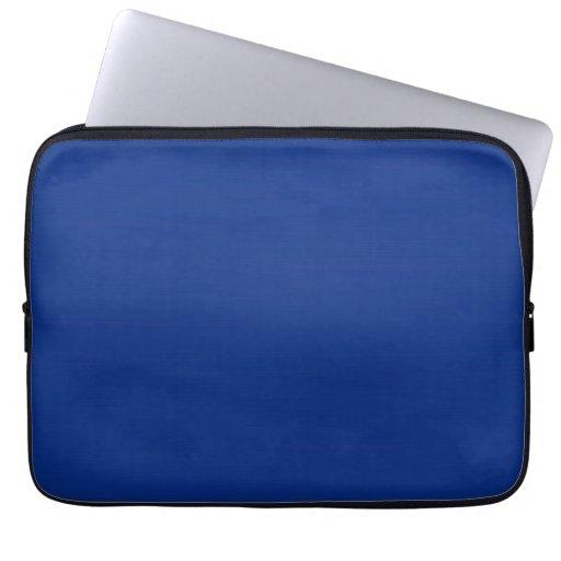 Plain Dark Blue Background Laptop Sleeves