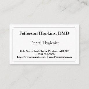 Dental hygienist business cards zazzle au plain dental hygienist business card colourmoves