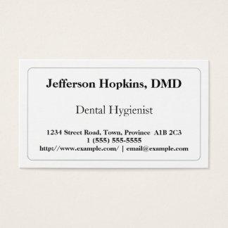 Plain Dental Hygienist Business Card