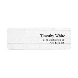 Plain Elegant Minimalist Modern Grey Wall Return Address Label