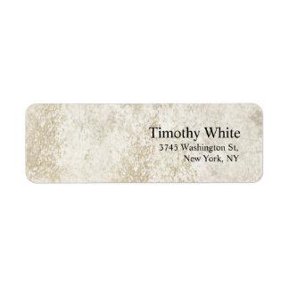 Plain Elegant Minimalist Modern Stone Wall Return Address Label