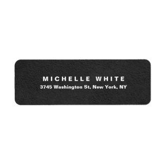 Plain Elegant Modern Minimalist Grey Wall Design Return Address Label