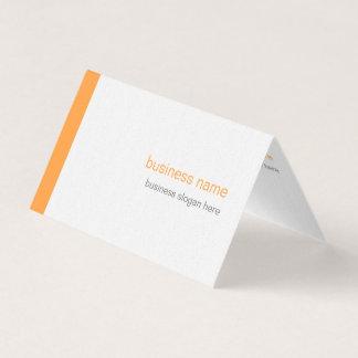 Plain Elegant Modern Simple Orange Stripe Business Card