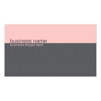 Plain Elegant Simple Light Pink / Grey Stripe Pack Of Standard Business Cards