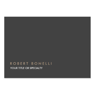 Plain Exclusive Gray Large Pack Of Chubby Business Cards