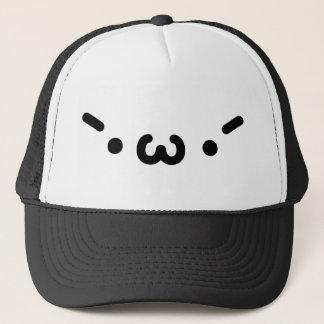 Plain gauze Keen face Trucker Hat