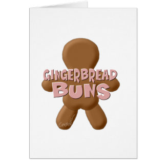 Plain Gingerbread Buns Card