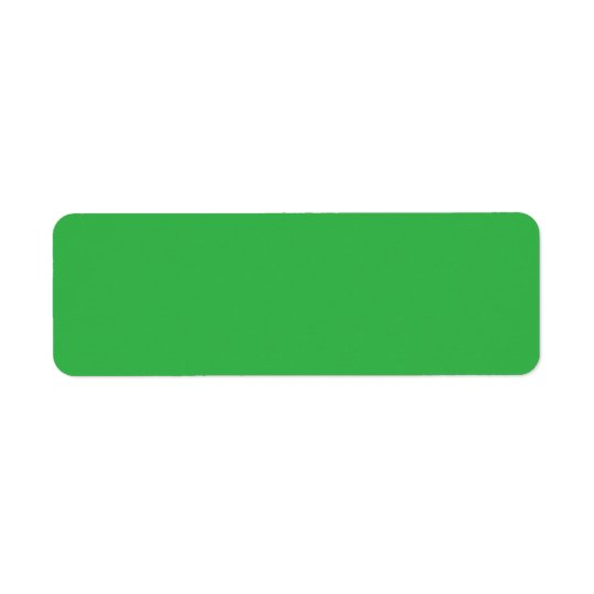 Plain green background blank custom return address return address label