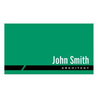 Plain Green Black Stripe Architect Business Card