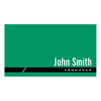 Plain Green Black Stripe Producer Business Card