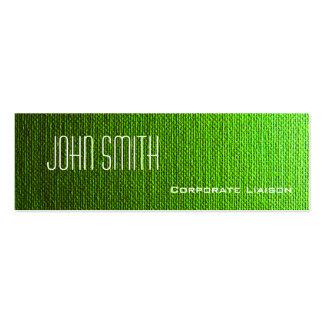 Plain Green Canvas Slim Modern Business Cards Business Card Templates