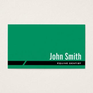 Plain Green Equine Dentist Business Card