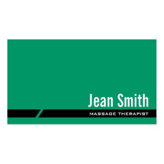 Plain Green Massage Therapist Business Card