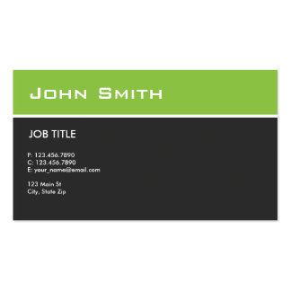 Plain Green Modern Elegant Professional Pack Of Standard Business Cards