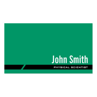 Plain Green Physical Scientist Business Card