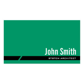Plain Green System Architect Business Card