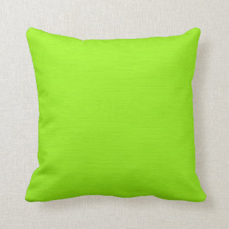 Plain Green Yellow (Lime) Background Throw Pillow