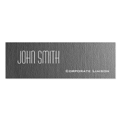 Plain Grey Canvas Slim Modern Business Cards Business Card
