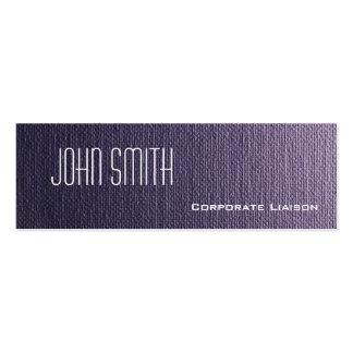 Plain Grey Canvas Slim Modern Business Cards Business Cards