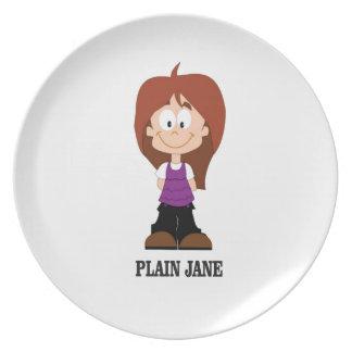 plain jane brunnette plate