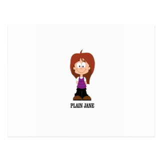 plain jane brunnette postcard