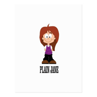plain jane girl postcard