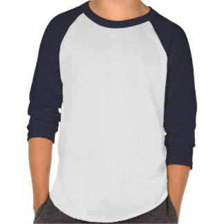 Plain Kids' American Apparel Poly-Cotton Navy/Wh Tee Shirt