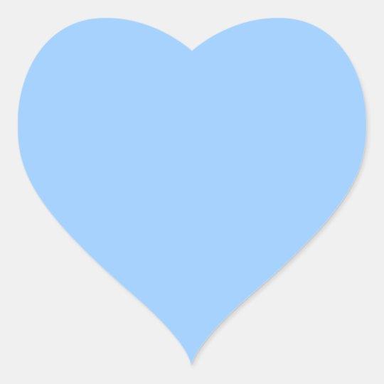 Plain Light Blue Background. Heart Sticker