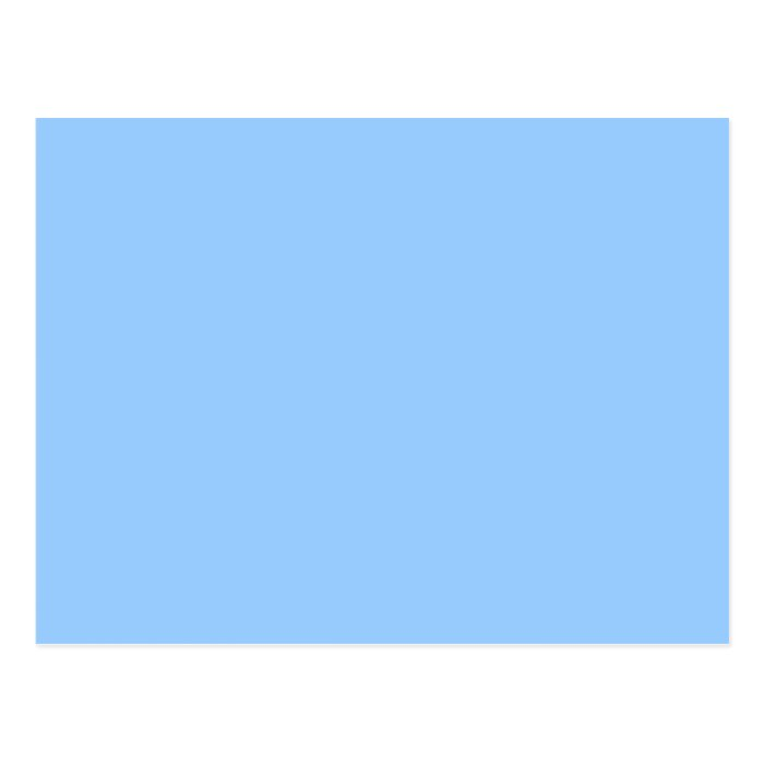 Plain Light Blue Background. Postcard