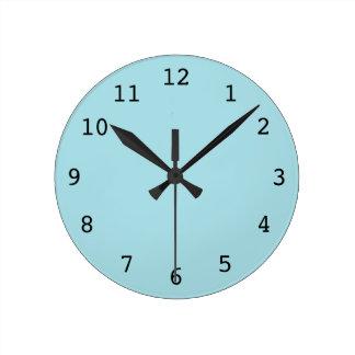 Plain light blue clock