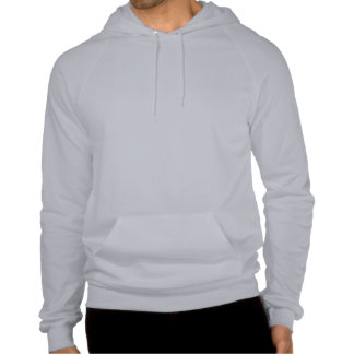 Plain light grey fleece pullover hoodie for men