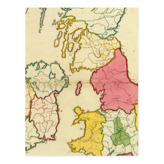 Plain map British Islands Postcard