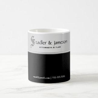 Plain masculine silver black professional coffee mug
