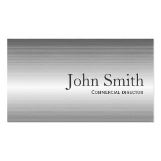 Plain Metal Commercial Director Business Card