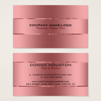 Plain Metallic Copper Background Stainless Steel Business Card